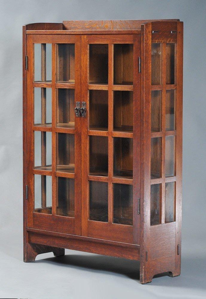 Gustav Stickley Oak China Cabinet