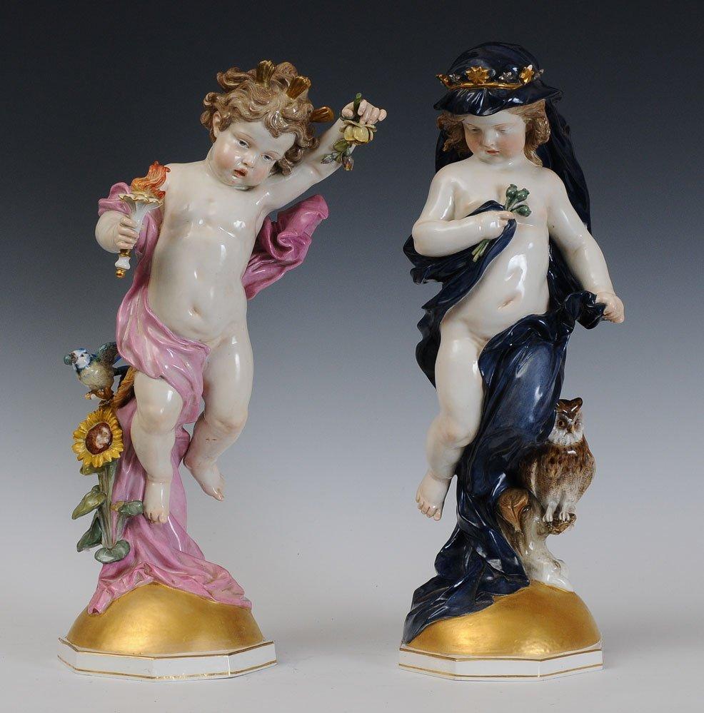 Impressive Pair of Meissen Figures