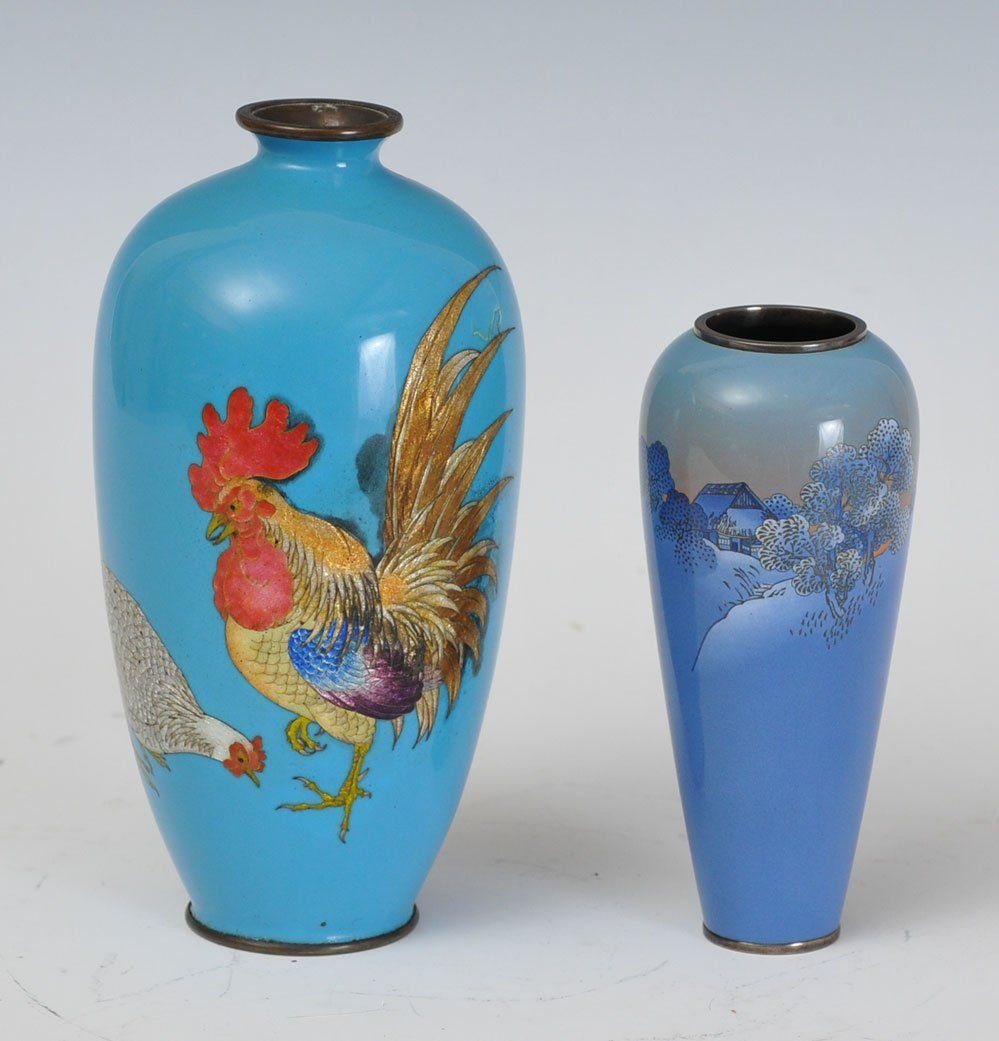 Two Japanese Cloisonne Vases