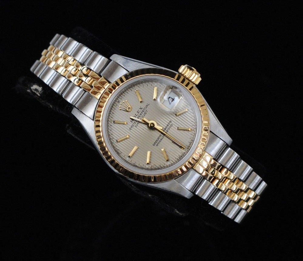 Rolex Datejust 18k Two Tone Ladies Wristwatch