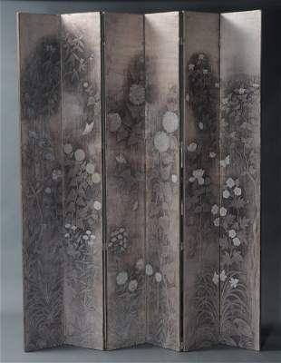 Max Kuehne Six-Panel Screen
