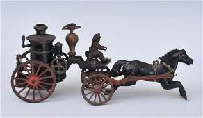 Ives Cast Iron Horse Drawn Pumper Fire Engine