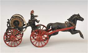 Ives Cast Iron Hose Reel Wagon