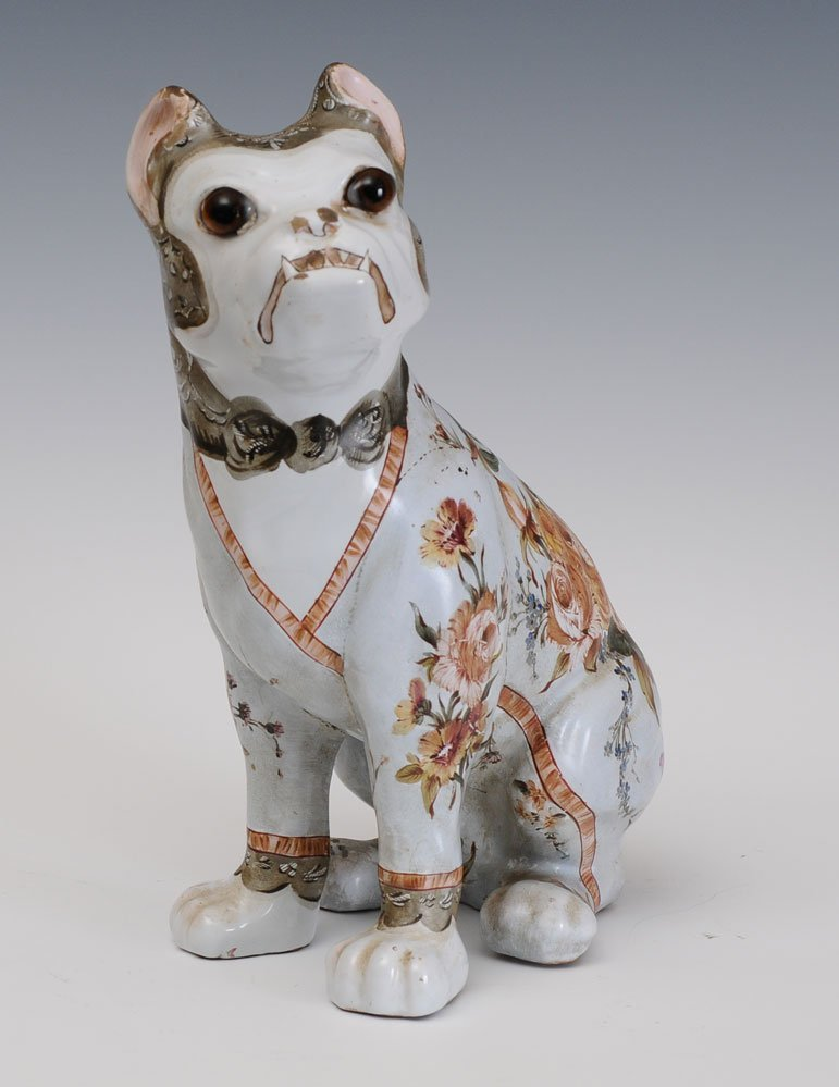 Emile Galle Faience Dog