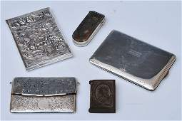 A Group of Three Silver Cigarette Cases