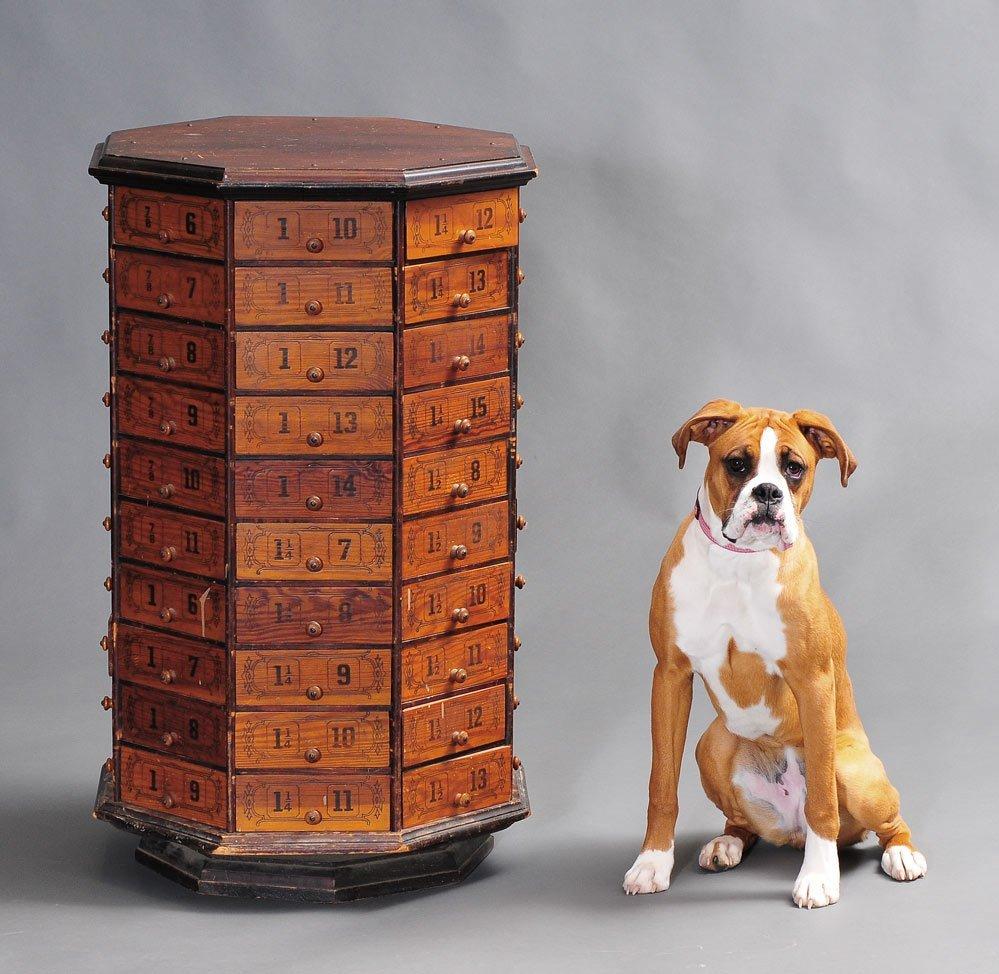 Victorian  Revolving Hardware Cabinet