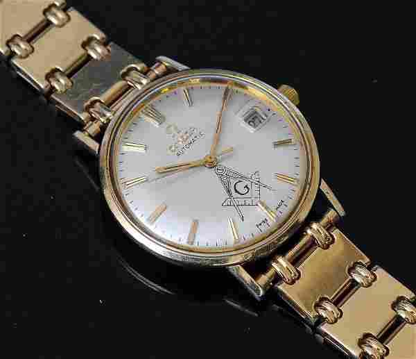 14k Gold Omega Seamaster Wrist Watch