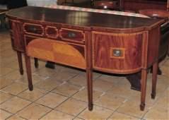 English Sheraton Style Mahogany Sideboard