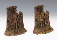 Pair of Bronze Robert E. Lee Bookends