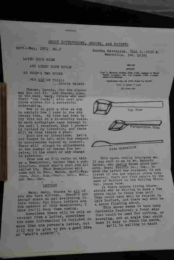 Buttonhook Newsletter Volume 1-7 circa 1975
