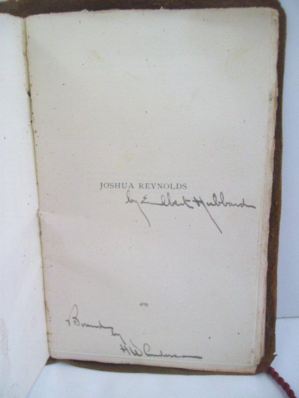 12: JOSHUA REYNOLDS BOOK SIGNED ELBERT HUBBARD