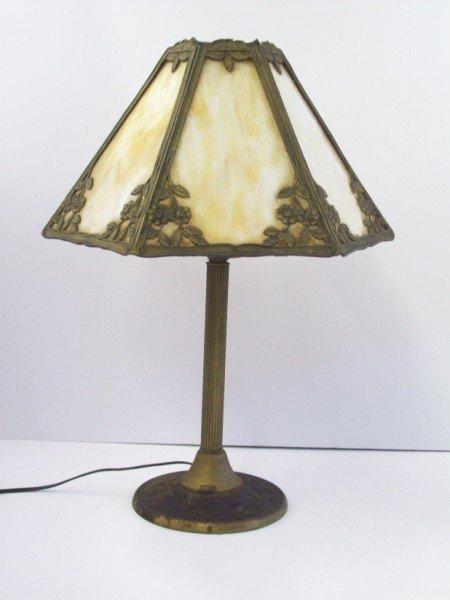 4: SLAG GLASS TABLE LAMP