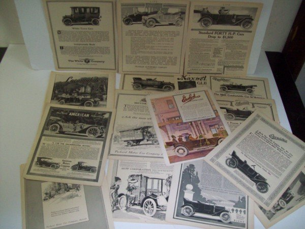 18: COLLECTION OF AUTOMOBILE ADVERTISEMENTS