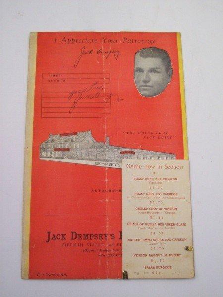 48: JACK DEMPSEY'S MENU