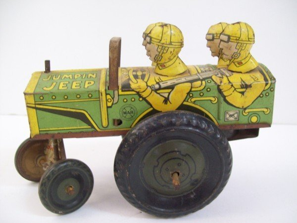4: MARX JUMPIN JEEP TIN TOY