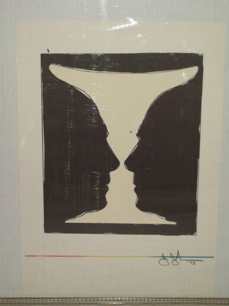 7A: JASPER JOHNS TWO CUP PICCASO LITHOGRAPH