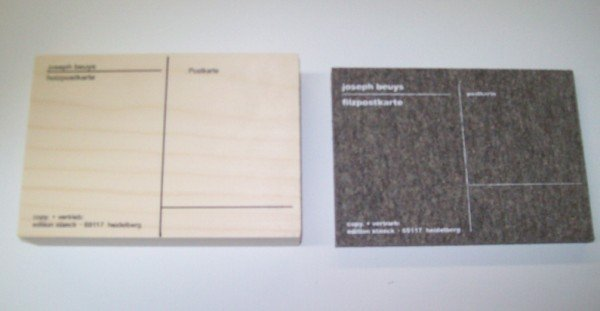 8A: JOSEPH BEUYS FELT & WOOD POSTCARDS