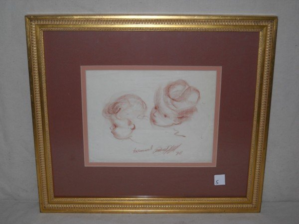 5: DRAWING OF CHILDREN SIGNED