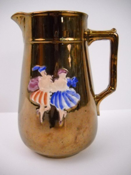 8: GOLD LUSTER PITCHER
