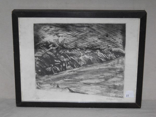 11: ARTIST PROOF ETCHING SIGNED