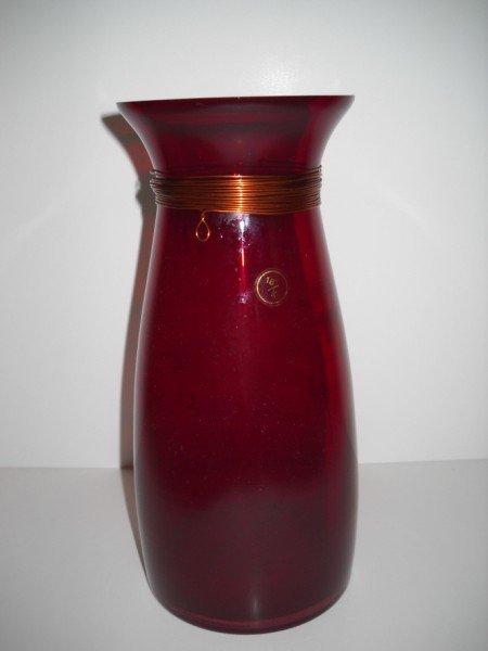 14: RUBY GLASS VASE