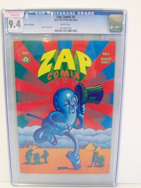 5A: ZAP COMIX UNDERGROUND COMIC BOOKS