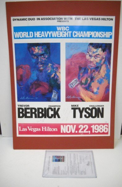 1B: AUTOGRAPHED BOXING POSTER