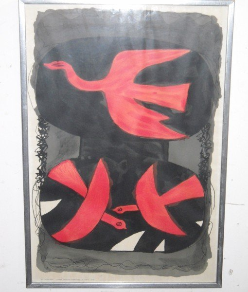 2A: GEORGES BRAQUE EXHIBITION POSTER