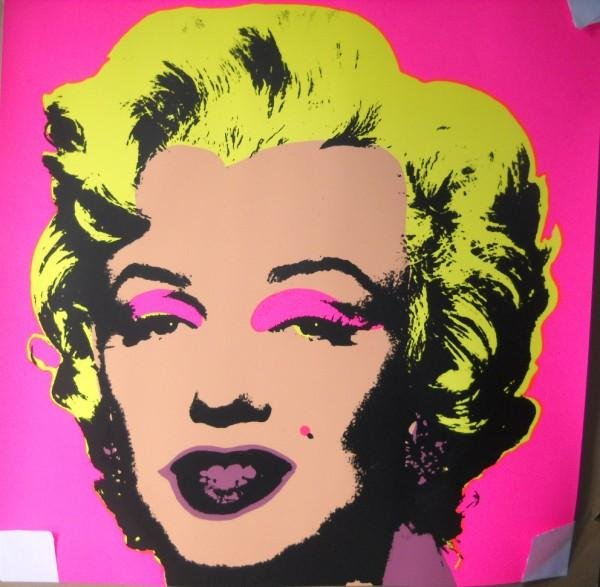 54A: ANDY WARHOL MARILYN MONROE SERIGRAPH