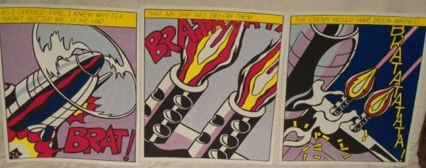 "3A: ROY LICHTENSTEIN ""AS I OPENED FIRE"" LITHOGRAPH"