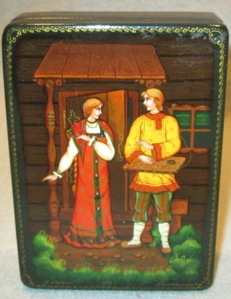 12: HAND PAINTED RUSSIAN BOX