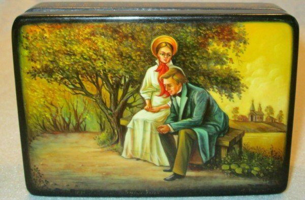 16: HAND PAINTED RUSSIAN BOX