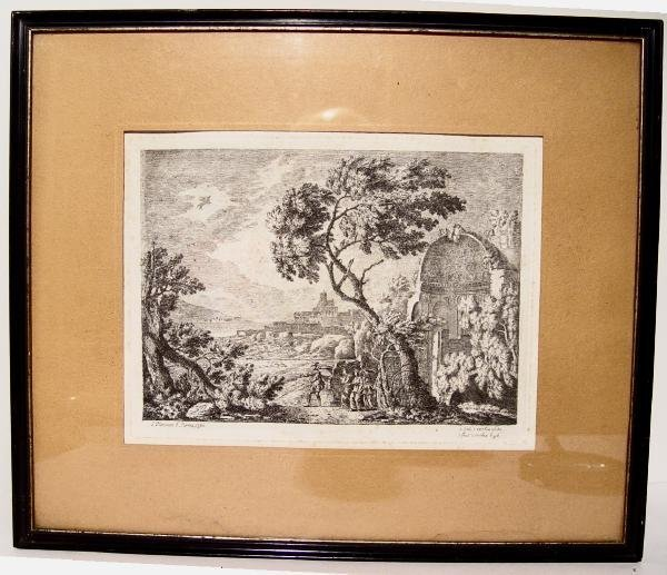 2488506: Original English Engraving J Plimmer Rome 1760