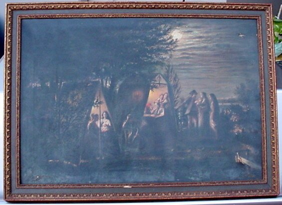 2488508: Antique Old Oil Painting Fortune Teller