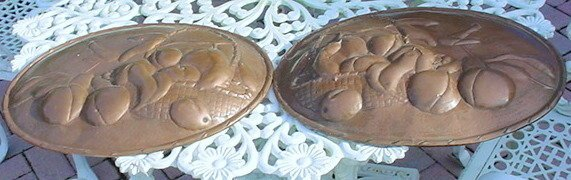 2488509: 2 ANTIQUE OLD MISSION HAMMERED COPPER PLAQUES