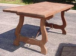 2488512: Old Vintage Wrought Iron & Wood Table Spanish