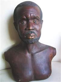 2488995: Sculpture of a Afro Man early 19 century