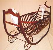 2488998: Louisiana rare Baby Cradle  Museum Piece