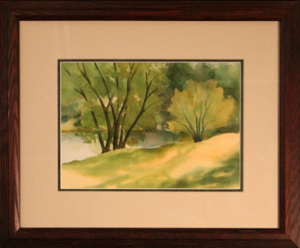 "2494978: ""McKillop Park"" by Olive Rowland - watercolor"