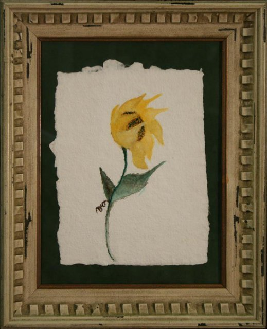 2494980: Sunflower in the Wind, Original Watercolor