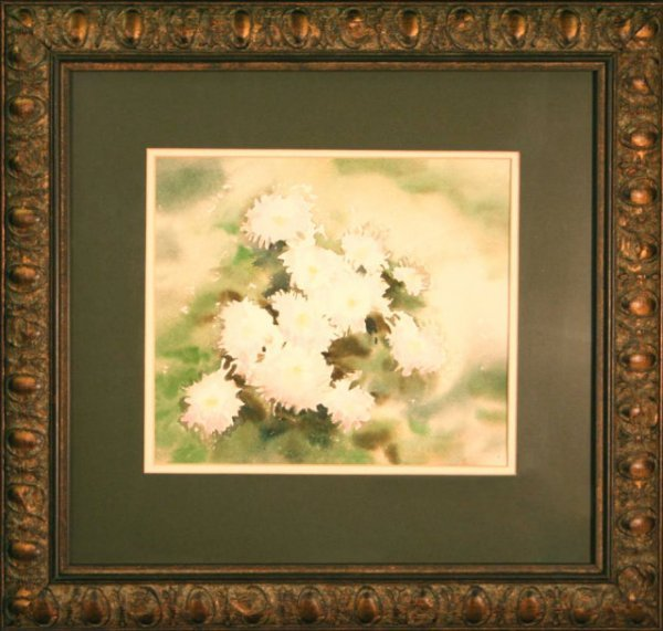 "2494985: ""White Mums"" by Connie Buckley - floral"