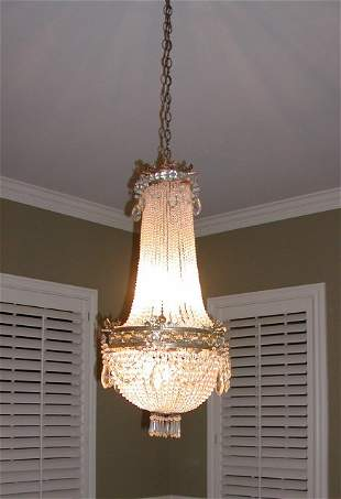 French Louis XVI style beaded crystal empire