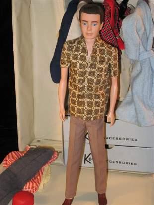 1961 Ken Doll, Vinyl Case & Clothes (Hunting)