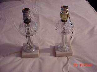 lamps, table, pair, depression