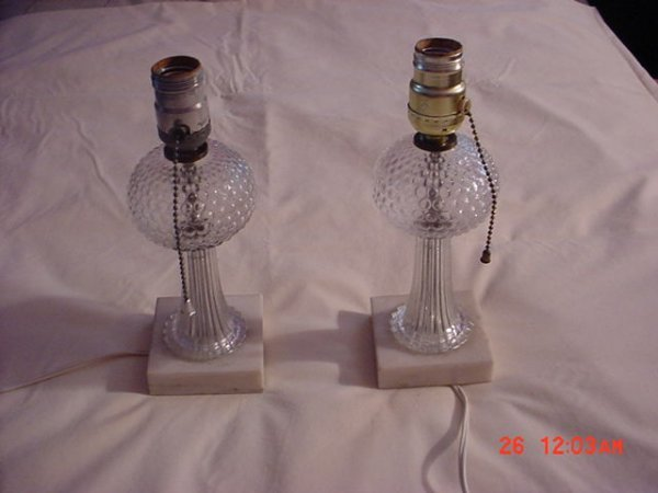 2506227: lamps, table, pair, depression