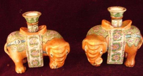 2506241: C. 1795 PAIR CHINESE EXPORT ELEPHANT