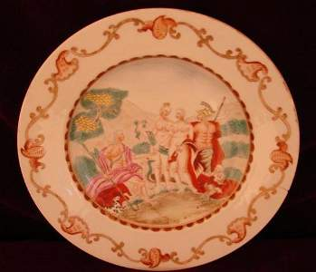 2506245: C. 1760 CHINESE EXPORT JUDGMENT OF PARIS PLATE