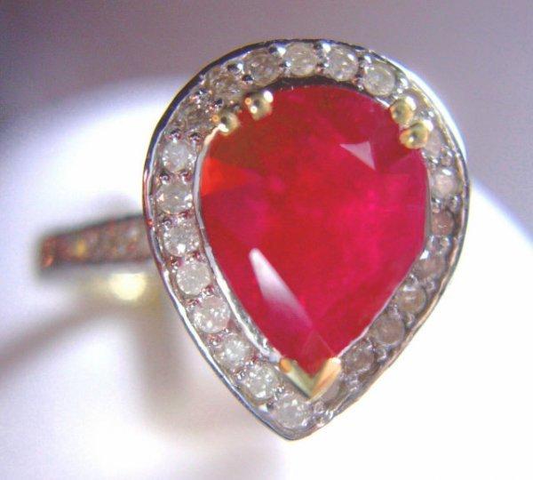 2518558: 2.04 CT DIAMOND & 4 CT RUBY RING 14K WG/YG