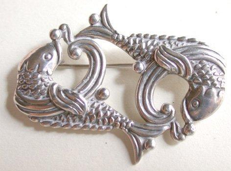 2518563: Los Castillos TaxcoSterling Fish Pin