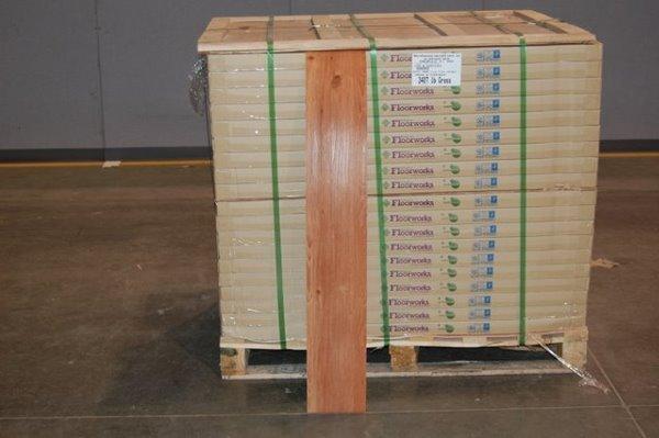 10: Heavy Duty Vinyl Wood Flooring Like New In Box